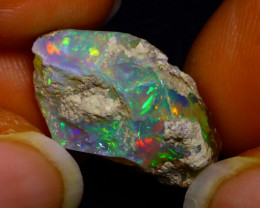 9.76Ct Multi Color Play Ethiopian Welo Opal Rough F1917/R2