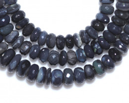 89.00 CTS BLACK CRYSTAL OPAL STRAND-FACETED -WITH CLIP [SOJ8065]