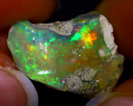 16.06Ct Multi Color Play Ethiopian Welo Opal Rough F2110/R2