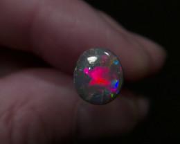 2.15ct Solid Lightning Ridge dark opal, pink pink fire