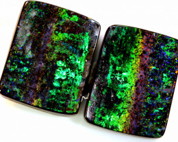 33.30CTS QUALITY  BOULDER OPAL POLISHED PAIR INV- 378