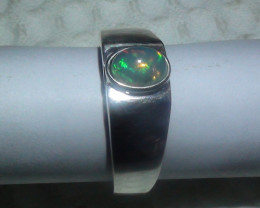 OPAL SIZE 9.75 MENS 925 STERLING SILVER RING