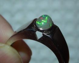 Sz 9.75 Men's Opal Ring 925 Sterling Silver