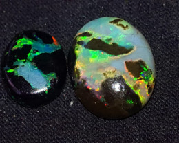 6.00 CRT ROLLING FLASH NEON PLAY COLOR PATTERN INDONESIAN OPAL WOOD FOSSIL