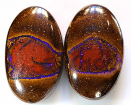 29.65CTS  BOULDER OPAL  POLISHED  PAIR  TBO-A880