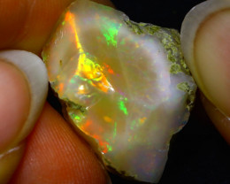 26.06Ct Multi Color Play Ethiopian Welo Opal Rough JR33/R3