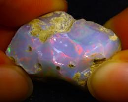 31.50Ct Multi Color Play Ethiopian Welo Opal Rough JR47/R3