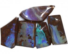 $19 PER STONE 110.25 CTS  BLUE BOULDER ROUGH PARCEL-JUNDAH [BY8442]