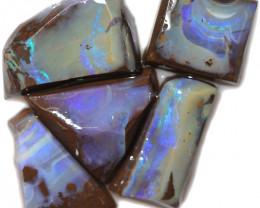 $18 PER STONE 120.60 CTS  BLUE BOULDER ROUGH PARCEL-JUNDAH [BY8452]