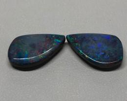 Boulder opal doublet