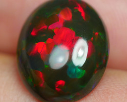 4.670 CRT GORGEUS SMOKED FLORAL PUZZLE RED FIRE WELO OPAL-