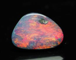 Australian Opal Doublet, Jewelry quality,  Red, 0.45 ct