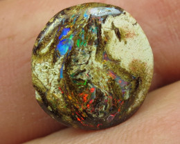 6.5cts, WOOD OPAL~FOSSIL GEM FLASH.