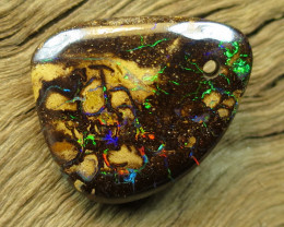 24.40.CTS. DRILLED FIRERY PATTERN MATRIX OPAL,CO