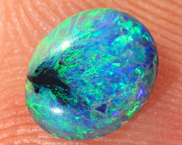 0.55ct 6.5x5.5mm Solid Lightning Ridge Dark Opal [LO-2224]