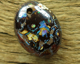 10cts. DRILLED AUSSIE BOULDER MATRIX OPAL.