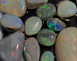 34 CT Colorful Lightning Ridge Opal Rubs