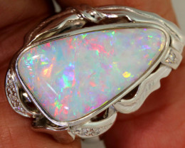 78.26 CTS WHITE OPAL PLATINUM RING   OF-A134/1  LAZ