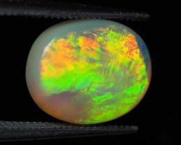 Lightning Ridge Crystal Opal, Very bright directional, 2.32 ct