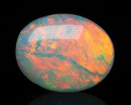 Lightning Ridge Crystal Opal, Lots of red, 1.44 ct
