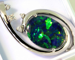 25.70 CTS BLACK  OPAL PENDANT   OF-M434  LAZ