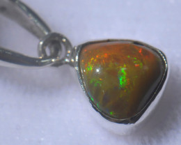 9.66ct Natural Ethiopian Welo Opal .925 Sterling Silver Pendant