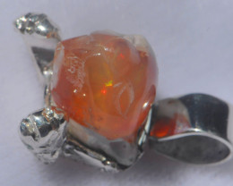 44.18ct Mexican Taxco Opal .925 Sterling Silver Pendant
