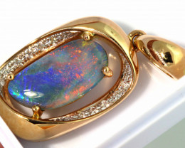 17.40 CTS BLACK OPAL PENDANT   OF- M777  LAZ