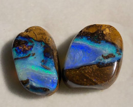 Pair of beautiful boulder opal 15.05 CT