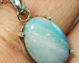 7.20CT OPAL IN  PENDANT WITH SILVER NECKLACE BJ5