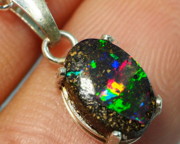 4.70CT OPAL IN  PENDANT WITH SILVER NECKLACE BJ6
