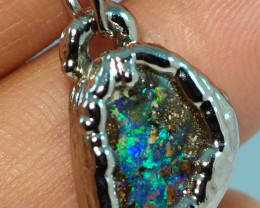 20.60CT OPAL PENDANT WITH SILVER COPPER ELECTRO FORM BJ32
