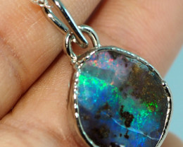 13.00CT OPAL PENDANT WITH SILVER COPPER ELECTRO FORM BJ34