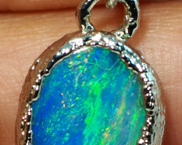 10.35CT OPAL PENDANT WITH SILVER COPPER ELECTRO FORM BJ40