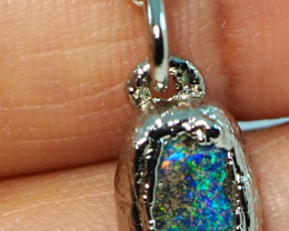 7.20CT OPAL PENDANT WITH SILVER COPPER ELECTRO FORM BJ46