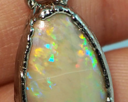 14.40CT OPAL LIGHTNING RIDGE PENDANT WITH SILVER COPPER ELECTRO FORM BJ51