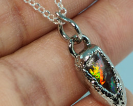 10.00CT OPAL PENDANT WITH SILVER COPPER ELECTRO FORM BJ52