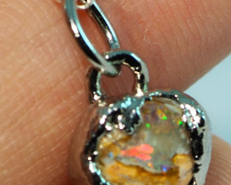 6.65CT OPAL PENDANT WITH SILVER COPPER ELECTRO FORM BJ53