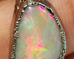 14.05CT LIGHTNING RIDGE OPAL PENDANT WITH SILVER COPPER ELECTRO FORM BJ58