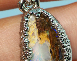 18.75CT OPAL PENDANT WITH SILVER COPPER ELECTRO FORM BJ59