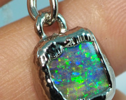 12.10CT OPAL PENDANT WITH SILVER COPPER ELECTRO FORM BJ61