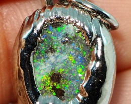 13.85CT OPAL PENDANT WITH SILVER COPPER ELECTRO FORM BJ65