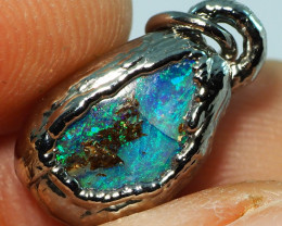 8.00CT OPAL PENDANT WITH SILVER COPPER ELECTRO FORM BJ66