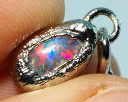 4.60CT LIGHTNING RIDGE OPAL PENDANT WITH SILVER COPPER ELECTRO FORM BJ70