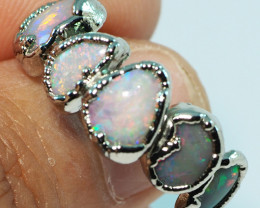 21.05CT LIGHTNING RIDGE OPAL  WITH SILVER  ELECTRO FORM RING BJ74