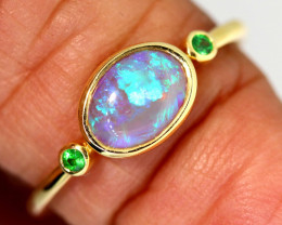 8.90 CTS CRYSTAL OPAL RING   OF-TM14  LAZ