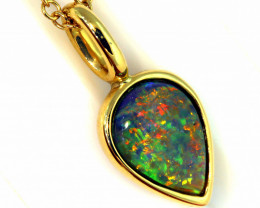 13.49 CTS BLACK OPAL PENDANT   OF-12TM  LAZ