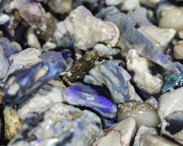 Beginners Black Opal Rough 3oz potch & color lot, lapidary, practice cuttin
