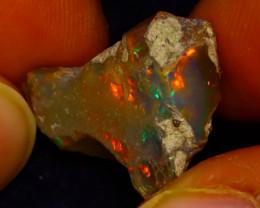11.74Ct Multi Color Play Ethiopian Welo Opal Rough J1009/R2