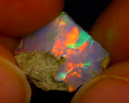 3.55Ct Multi Color Play Ethiopian Welo Opal Rough J1014/R2